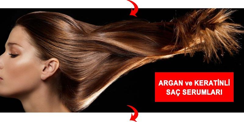argan ve keratinli saç serumu